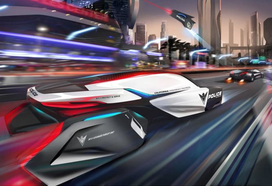 Future cop car designs wired for weird | CarsGuide