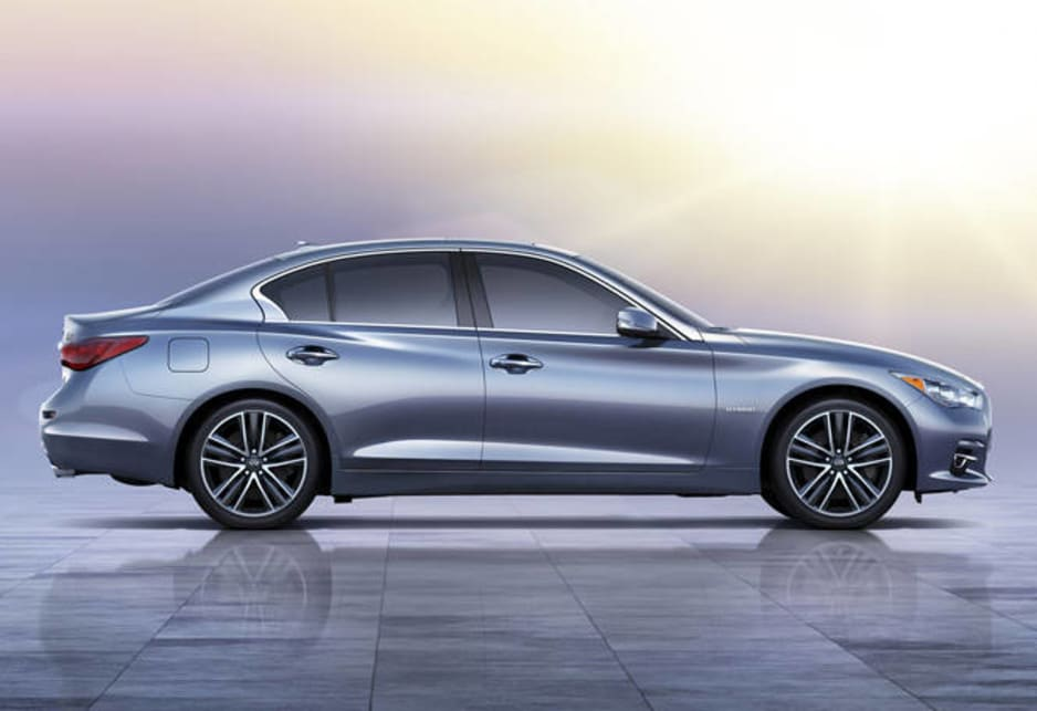 The Q50 will be loaded with luxury, including two big touch-screen infotainment displays, although there is no news yet on any connectivity plans.