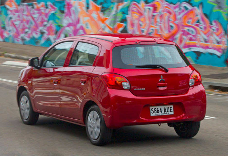 "Designed and built as a ""global"" light car, Mirage has a number of attributes that lend it perfectly to city driving not the least being its compact dimensions but also available room which is impressive in something so small, a tight turning circle and frugal fuel use rated as low as 4.6-litres/100km."