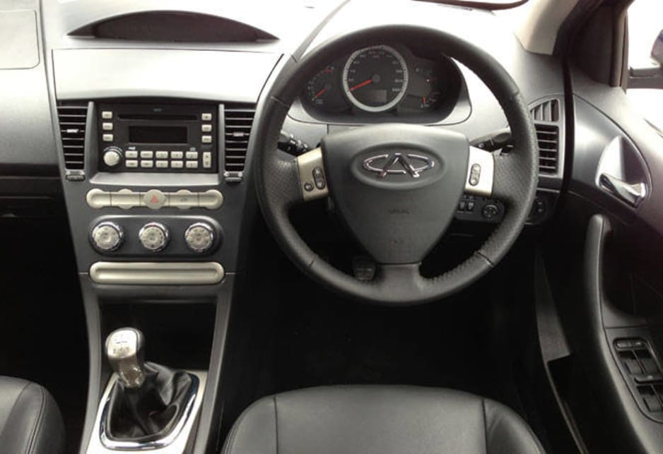 The J3 has steering wheel audio controls.