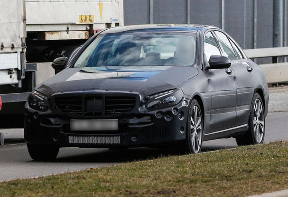 Mercedes Benz C-Class: spy shot