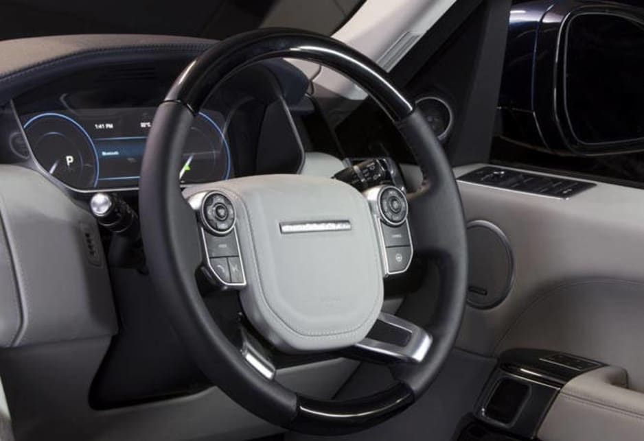 The driving position is claimed to be 90mm higher than other premium SUVs affording a clear view of the traffic ahead. Some of the more often used controls have been moved to the sides of the touchscreen to stop the screen acquiring dirty finger marks.