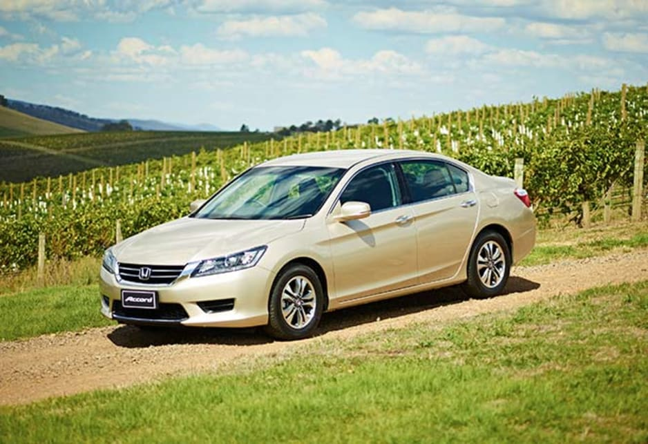 New Accord is a large car, almost Commodore and Falcon in length but is aimed more at tackling Mazda6, Toyota Camry and VW Passat rather than the big Aussie sixes.