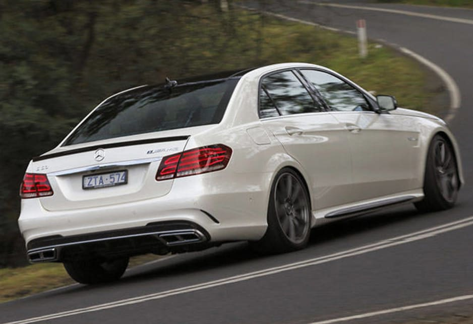 We had a bit of a crack in the latest E63 at Sandown race track where the largish Benz happily carved up the tight bits and blasted down the straights like a real race car.