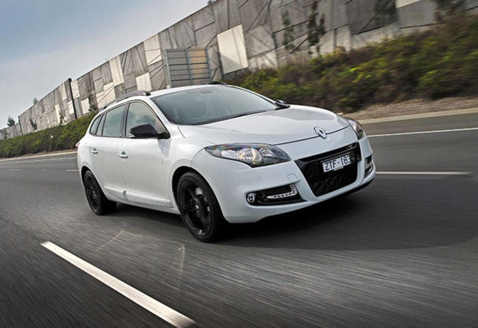The engine is matched to a continuously variable transmission that doesn't exhibit the dreaded drone unless the pedal is to the floor. Renault Megane GT 220 Sport Wagon pictured.