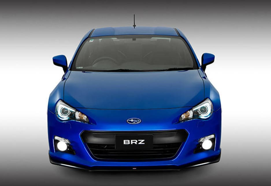 The Subaru BRZ S has lowered suspension that's visually enhanced with a body kit consisting of a front spoiler, a rear diffuser and side skirts.
