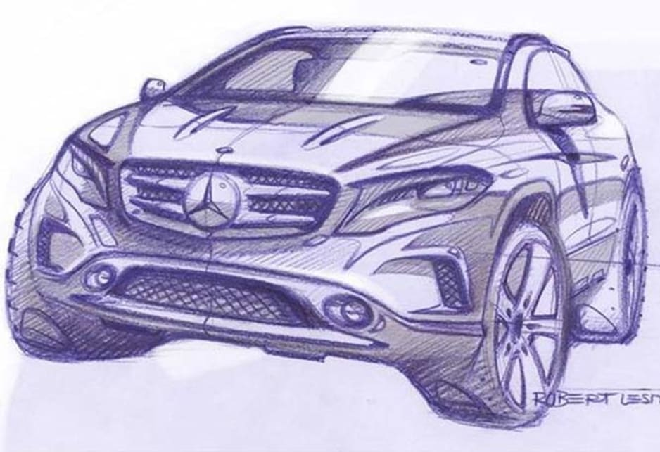 Mercedes-Benz GLA leaked
