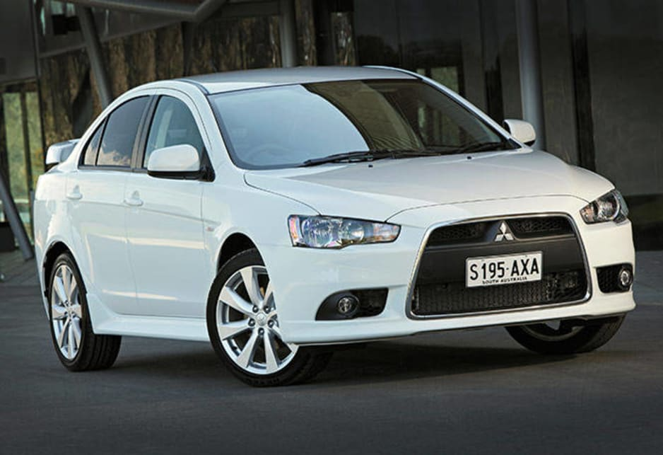 Lancer presents as a neat, well-proportioned sedan enlivened by a more recent nose job.