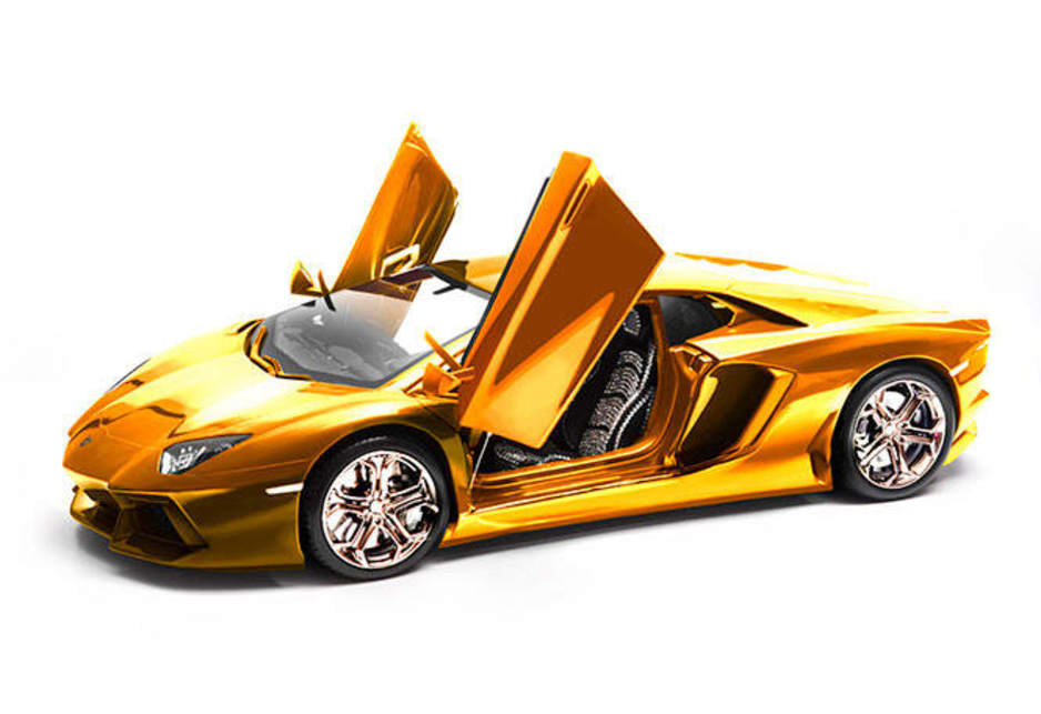 The gold Lamborghini model is the creation of engineer and artist Robert Gulpen, who has who has been built several luxury car models from gold, silver and platinum over the past decade.
