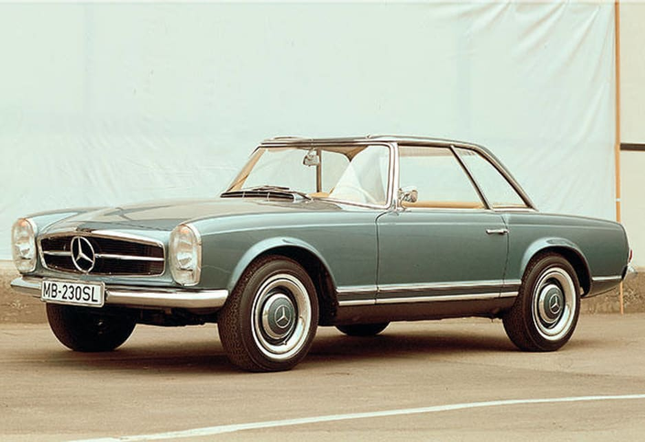 In production between 1963 and 1971, the 230SL started with a 2.3 litre six cylinder engine and progressed through 2.5 and 2.8 litre motors.