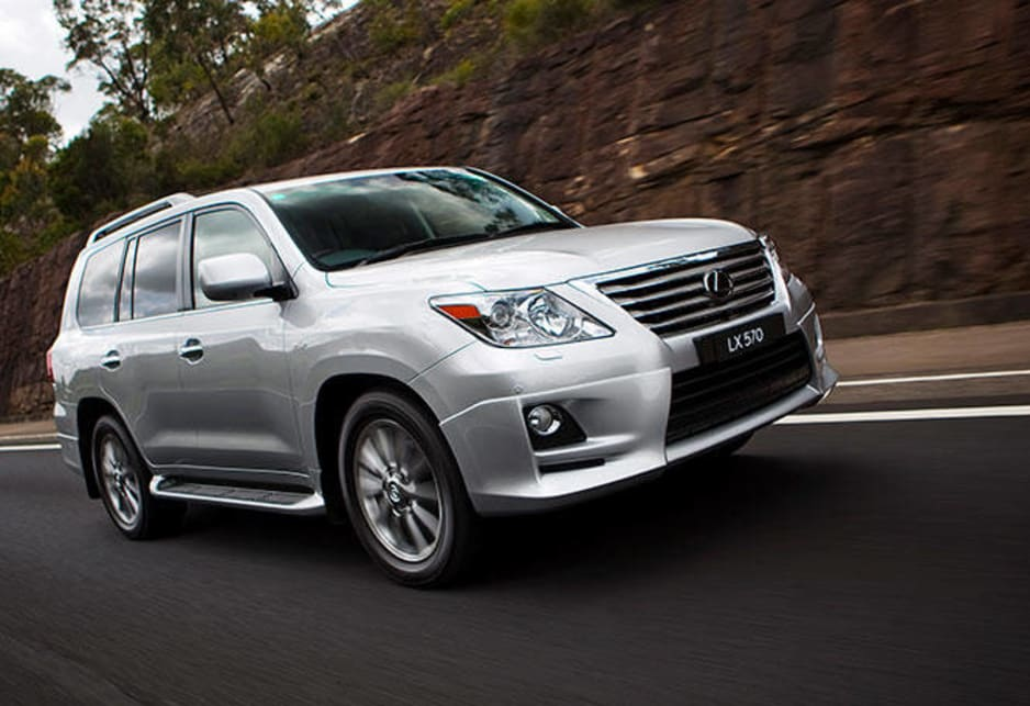 The LX 570 has a comprehensive safety package, with 10 airbags and active front-seat head restraints.