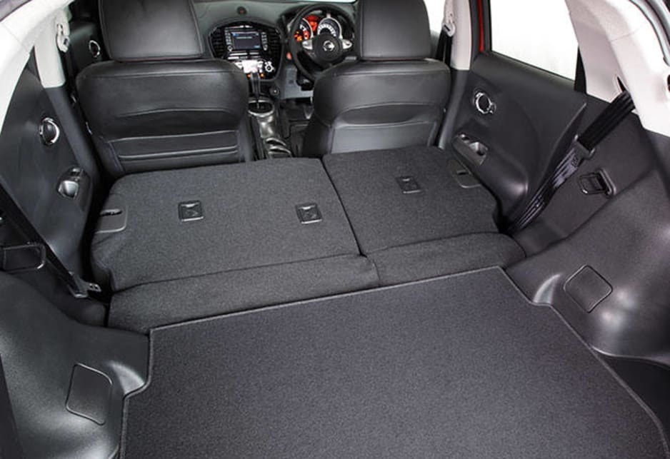 Cargo space is also not the world's biggest, even with the back seats folded flat.