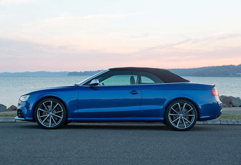 The new Audi RS5 Cabriolet sells for $175,900. At the same time the price of the RS 5 Coupe has been cut by $5500, to $155,900. On-road costs have to be added, consult your Audi dealer about this.