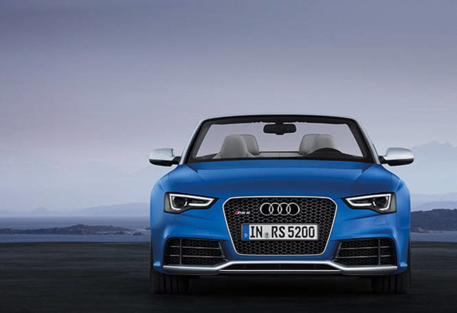 The RS5 is distinctly Audi with the characteristic widemouth grille to the fore.