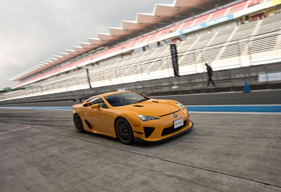 We're talking about Fuji Speedway in Japan and of course Japan's very own supercar the $700,000 V10 powered Lexus LFA.