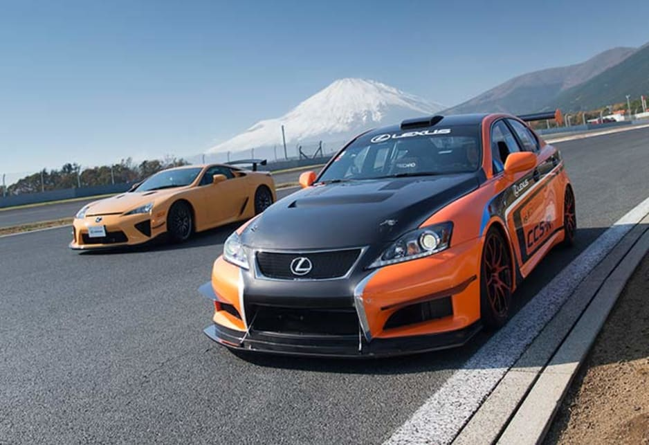 It was our first time at the Fuji circuit and Lexus had not one, but six of the stove hot Ferrari competitors on hand, with a total value of more than $3.2 million.