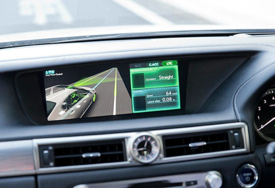 In contrast to standard radar, Cooperative-adaptive Cruise Control uses 700-MHz band vehicle-to-vehicle ITS communications to transmit acceleration and deceleration data which allows vehicles following behind to adjust their speeds accordingly to better maintain their distance.