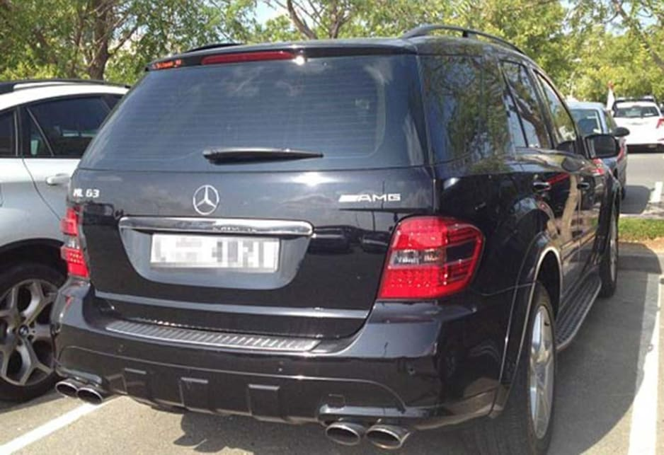 Mercedes-Benz ML63 AMG in the carpark of the American University of Dubai.Image credit: Meeka Nasser