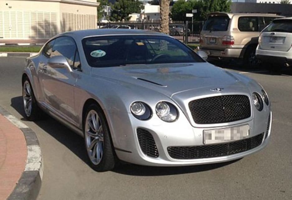 Bentley Continental GT Speed in the carpark of the American University of Dubai. Image credit: Meeka Nasser