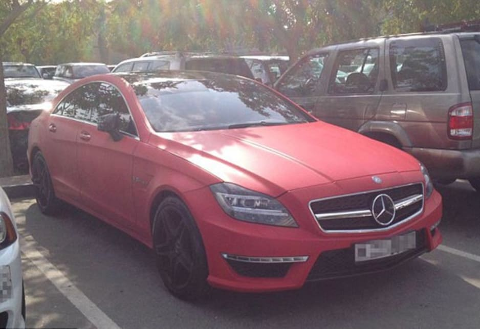 Mercedes-Benz CLS63 AMG in the carpark of the American University of Dubai. Image credit: Meeka Nasser