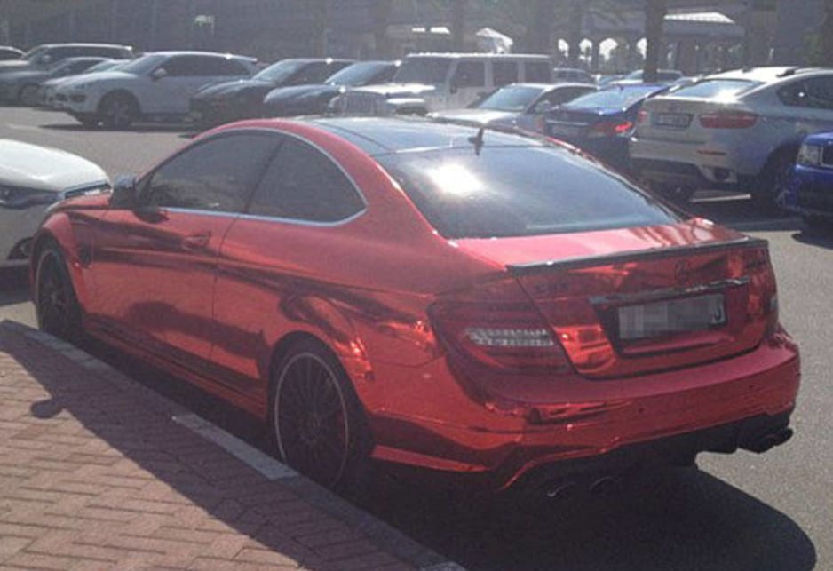 Mercedes-Benz C63 AMG Coupe in the carpark of the American University of Dubai. Image credit: Meeka Nasser