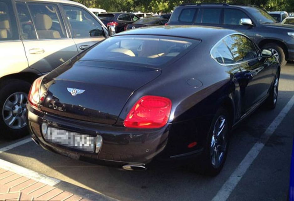 Bentley Continental GT in the carpark of the American University of Dubai. Image credit: Meeka Nasser