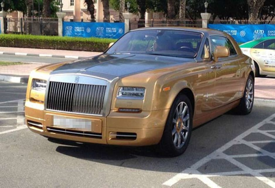 Rolls Royce Phantom Coupe in the carpark of the American University of Dubai. Image credit: Meeka Nasser