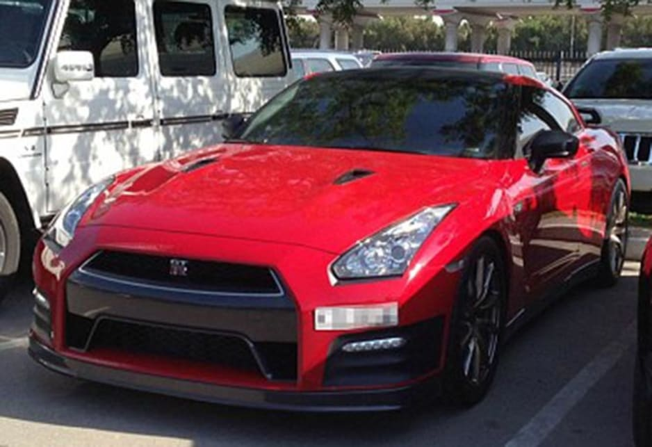 Nissan GT-R in the carpark of the American University of Dubai. Image credit: Meeka Nasser