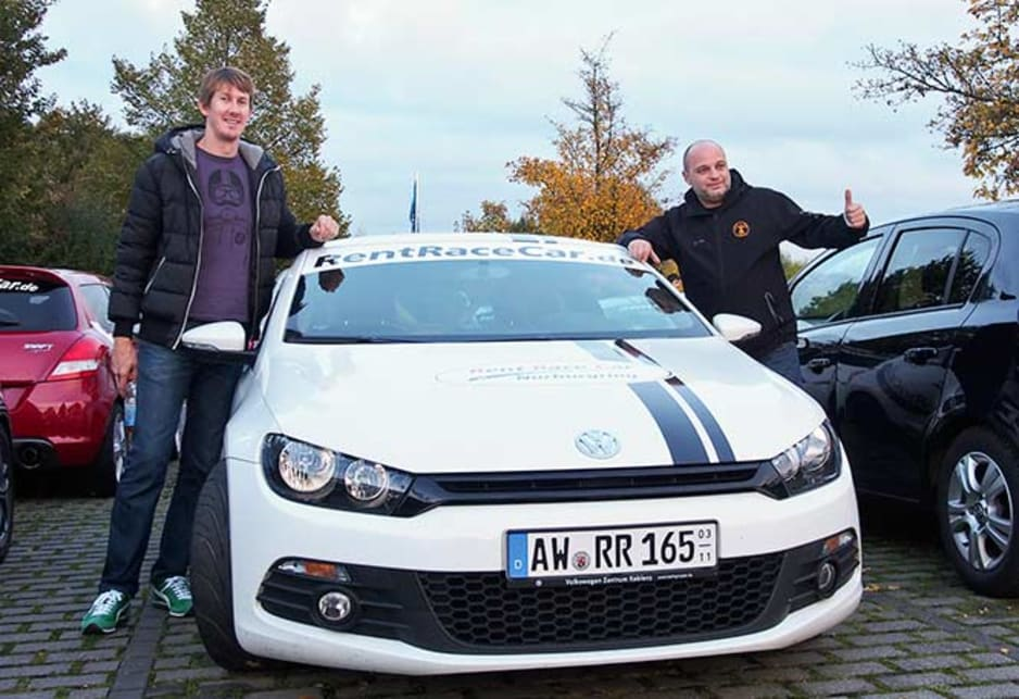 Robert Buys, the VW Scirocco and a thumbs-up from the nervous Jura.