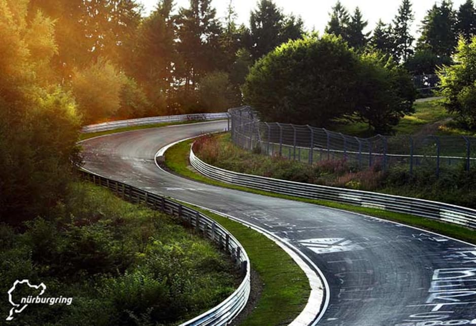 The Nordschleife is famous for its fast corners.
