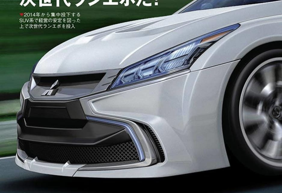 Mitsubishi Evo XI rendered