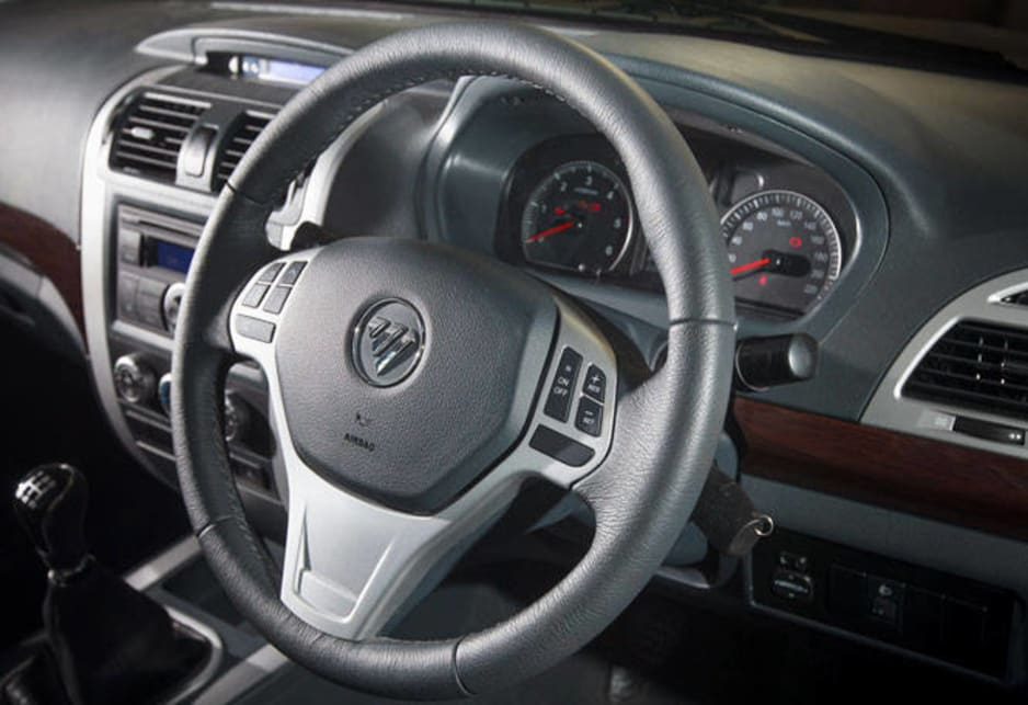 A five-speed manual is standard with a six-speed auto likely in the near future.