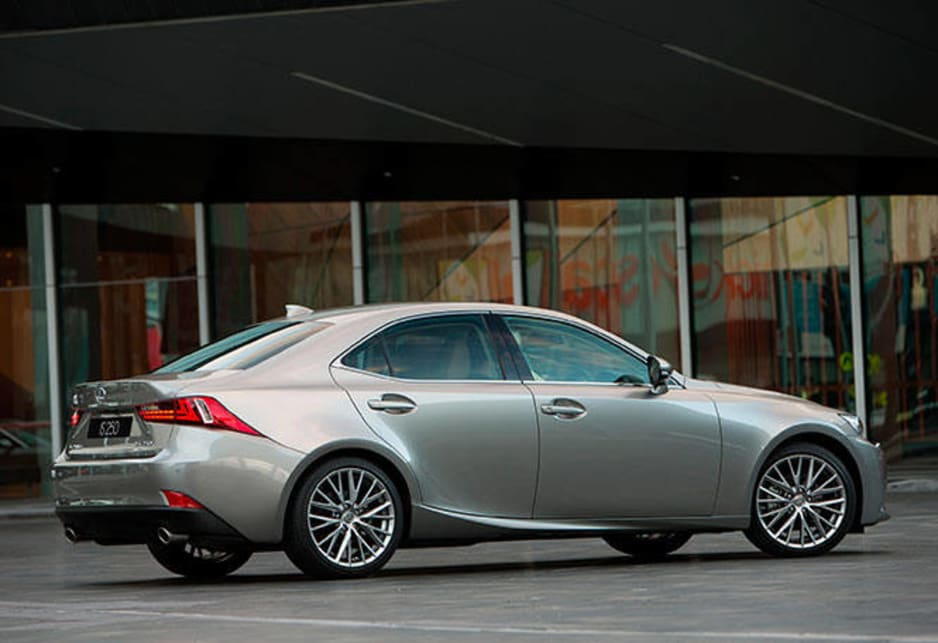 The trump card for Lexus is the value for money story when you look at how much gear comes standard. The cheapest version is the 2.5-litre IS250 Luxury at $55,900, placing it well under the luxury tax threshold. The 250 F Sport comes in at $64,900 and the Sports Luxury, which we drove, is $77,990.