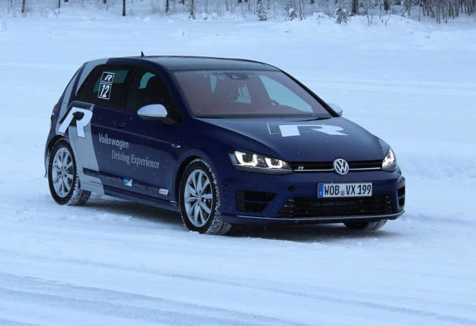 It was a (frozen) blast to get the Golf R out on the ice - with studded Lappi Winter Tyres.