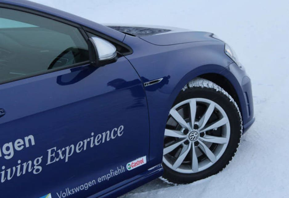 A drive on ice doesn't reveal all that much about driving nuance -- when the coefficient of friction goes up to normal road levels -- but it does demonstrate some of the benefits of the 'progressive' steering system, which has just 2.1 turns lock-to-lock, as opposed to 2.75 for the standard Golf's rack.