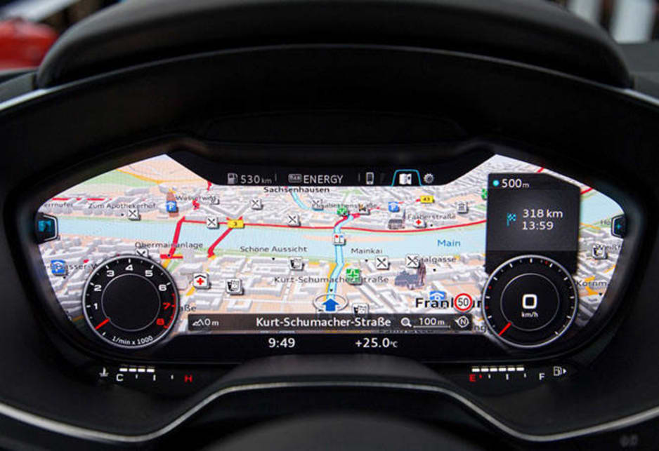 The highlight being the new iPad-sized 12.3-inch display screen behind the steering wheel in place of the main instrument cluster.