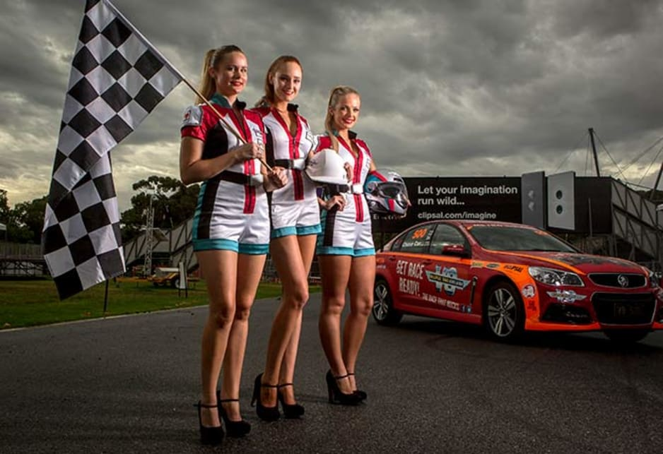 Grid Girls Jessica, Kara and Brittany at the Clipsal track, Adelaide.