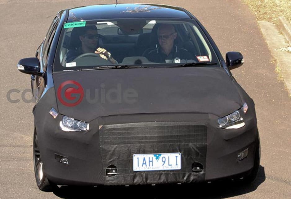 2015 Ford Falcon spied testing.