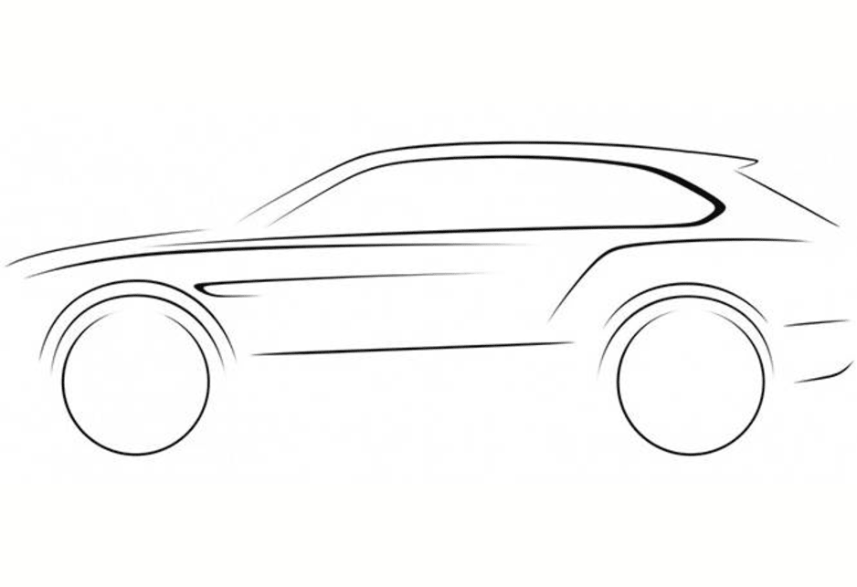Teaser for Bentley's SUV.