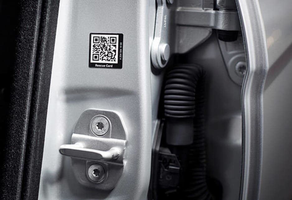 Mercedes-Benz has QR codes to help rescue workers