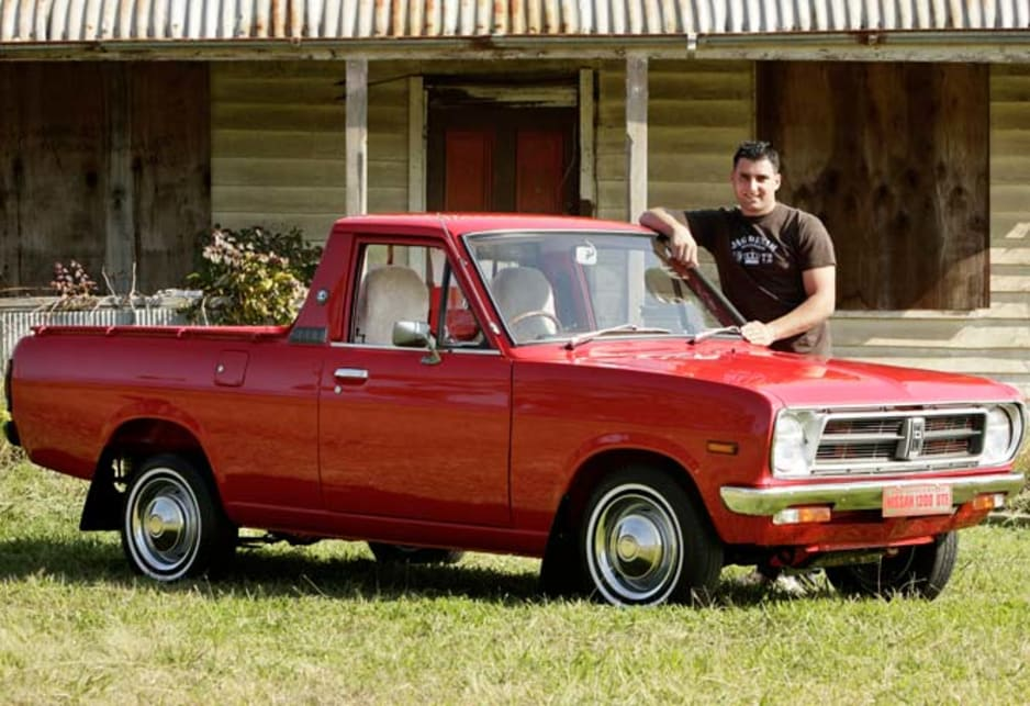 David Falzon with his 1985 Nissan 1200 ute.
