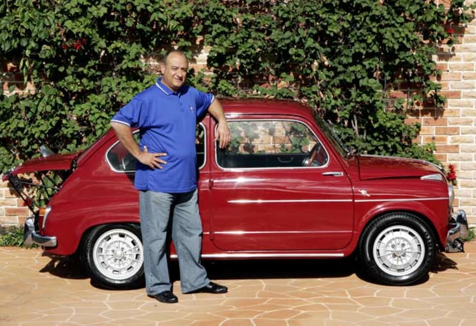 Proud owner John Di Rocco with his Fiat Abarth '850 TC Nurburgring.'