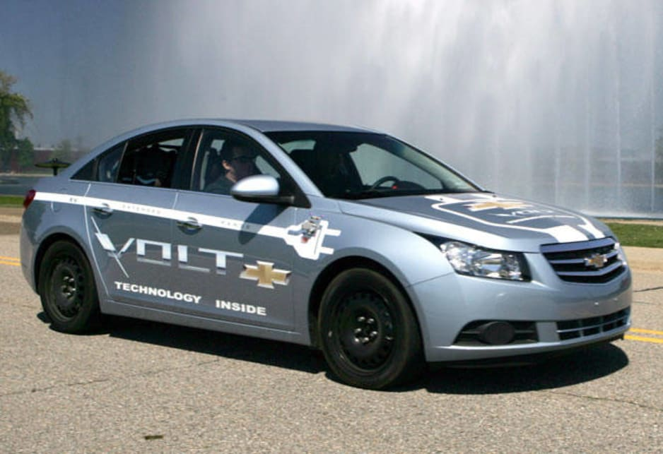 Chevrolet Volt development mule vehicle