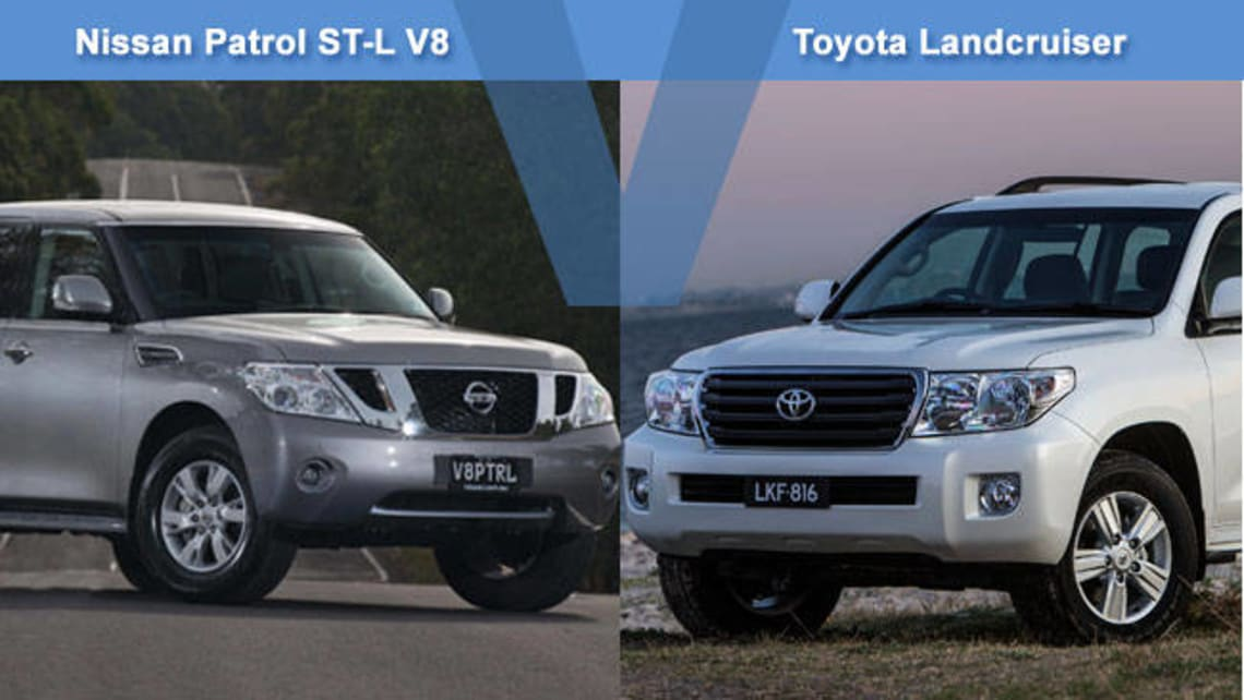 Nissan Patrol ST-L V8 vs Toyota Land Cruiser 200GXL Review