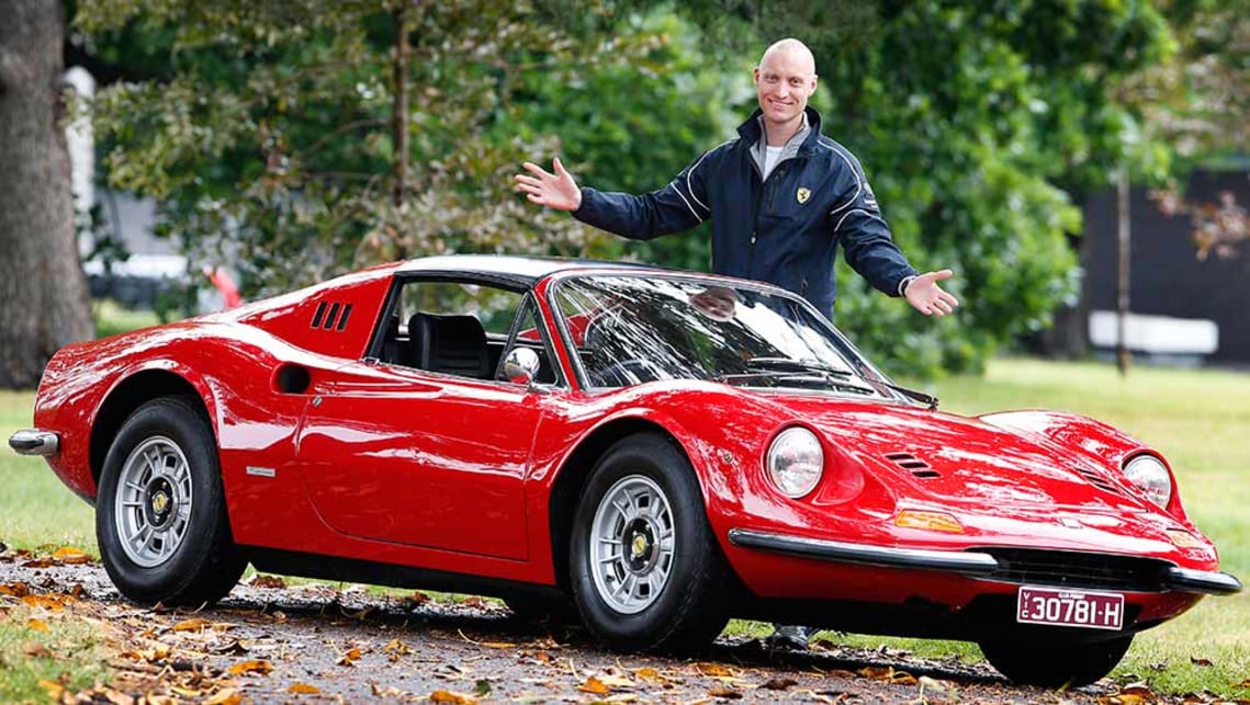 Trent Smyth with his Ferrari Dino.