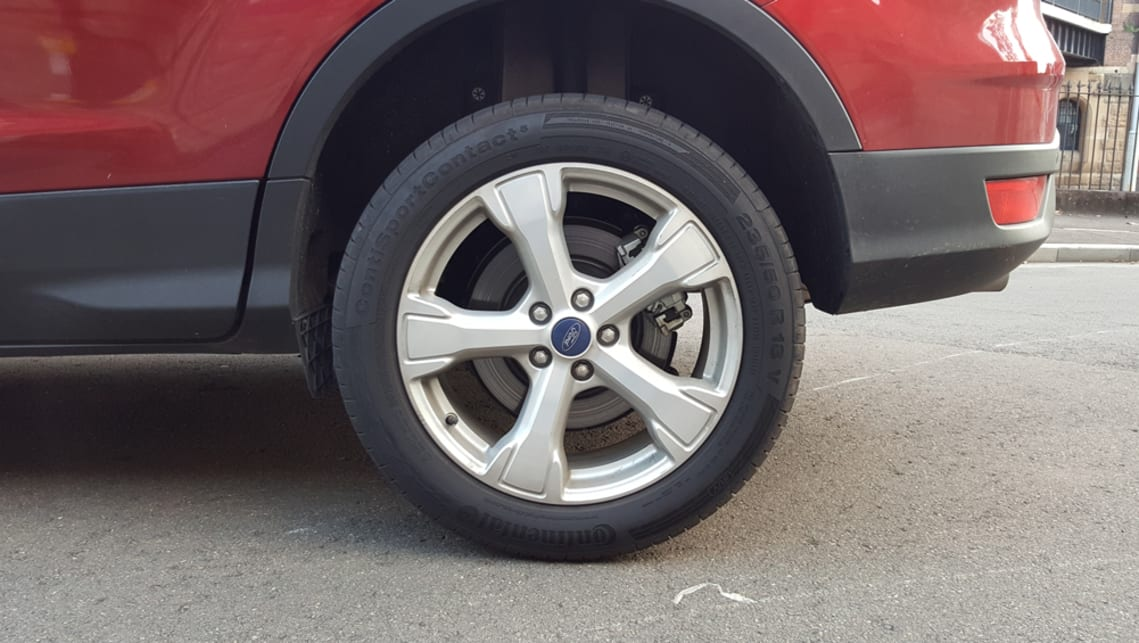 Chunky 18-inch wheels come standard.
