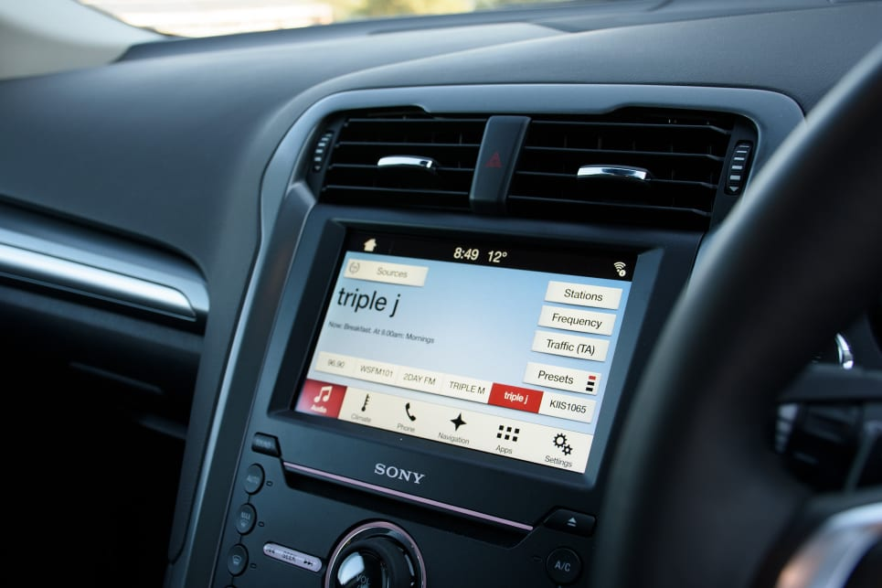 The regular suite of Mondeo features include Ford's Sync3 multimedia system on the 8.0-inch screen.