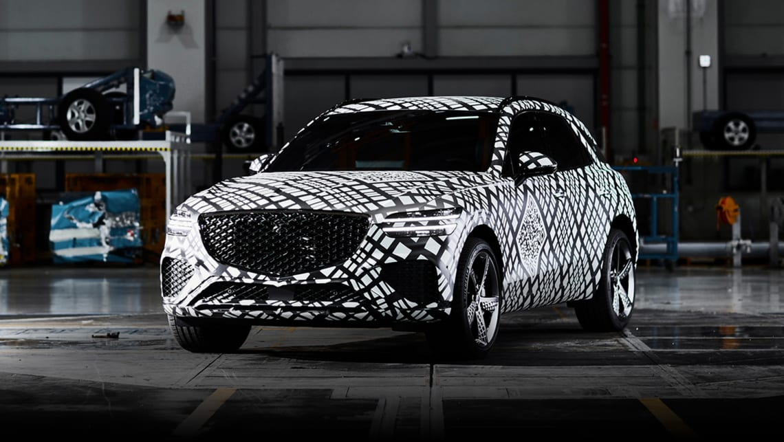 2021 Genesis GV70 teased: New Mercedes-Benz GLC, Audi Q5 ...
