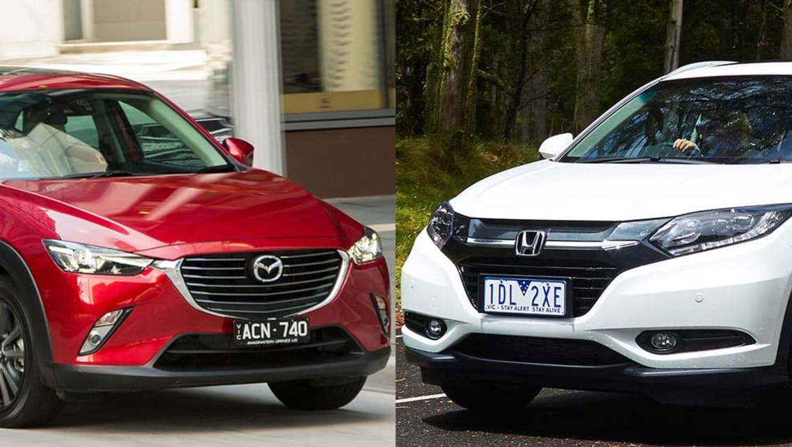 Mazda Cx 3 Vs Honda Hrv >> Mazda Cx 3 Vs Honda Hr V Review Carsguide