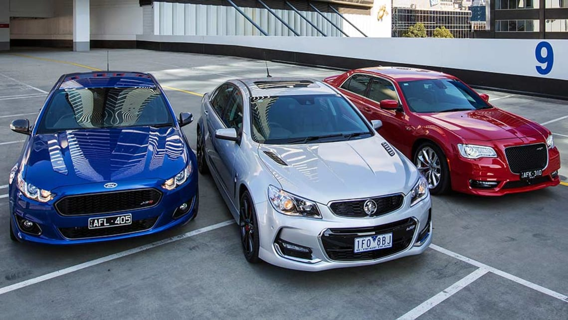 2015 Holden Commodore SS-V Redline, Chrysler 300 SRT and Ford Falcon XR8